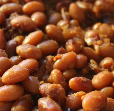Apple Chipotle Baked Beans