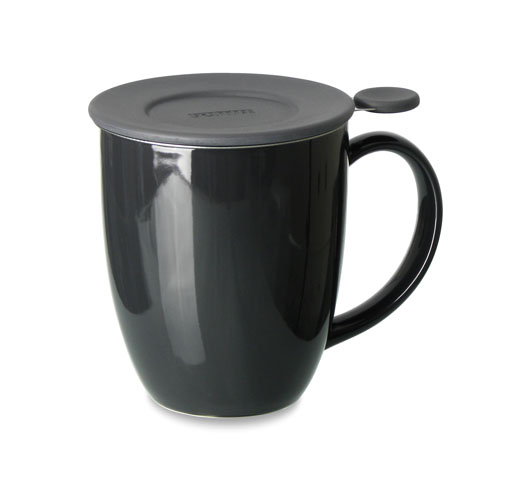 black graphite unibrew in mug with inf and liz 16oz