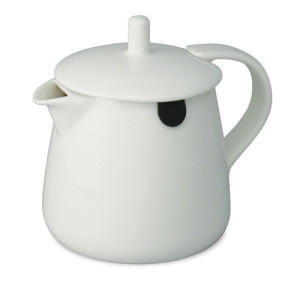 white teabag teapot 12oz