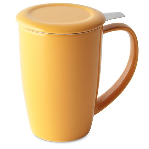 mandarin curve tall tea mug with infuser and lid