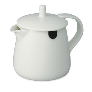 white teabag teapot 12oz